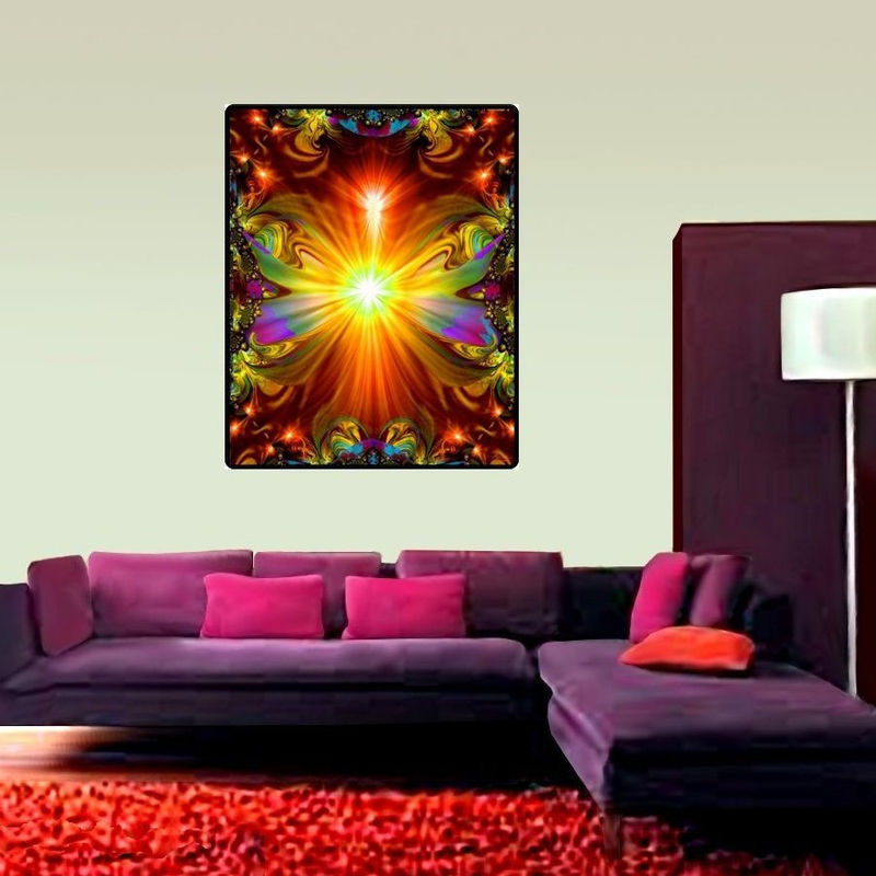 "Large Reiki Tapestry Energy Healing Chakra Art  ""Light Being""  - product images  of"