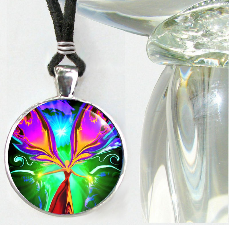 "Reiki Energy Healing Jewelry, Chakra Pendant Necklace ""Angel of the Violet Flame"" - product images  of"