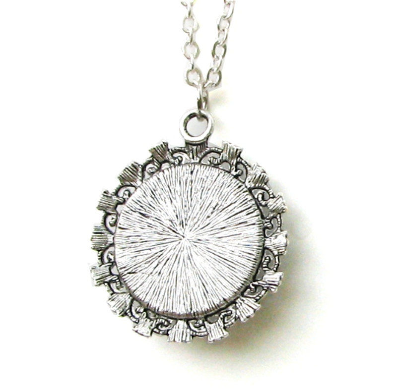 "White Necklace, Crown Chakra Jewelry, Reiki Energy Pendant ""Vision"" - product images  of"