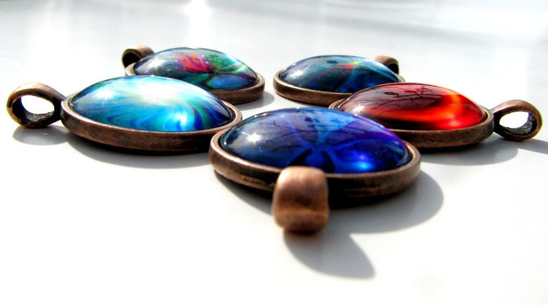 "Chakra  Jewelry, Spiritual Healing Necklace, Reiki Pendant ""Seeds of Change"" - product images  of"