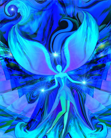 Blue,Art,,Reiki,Angel,,Chakra,Healing,Energy,Art,Print,Truth,violet flame healing, violet flame, chakra art, reiki art, visionary art, rainbow art, angel art, digital art, psychedelic art, yoga room, meditation, spiritual art, wall decor, wall art, wall hanging, art print, healing art, reiki healing, energy healing