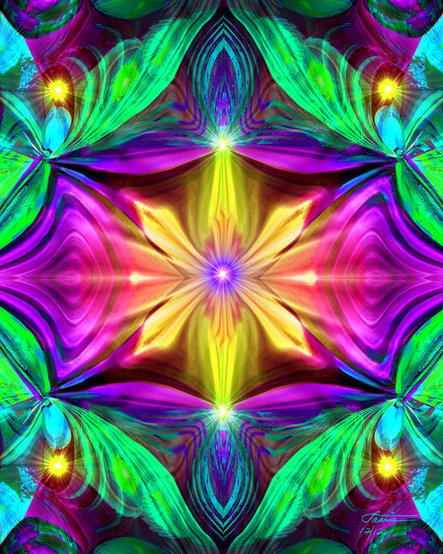 Psychedelic Abstract Art, Chakra Energy Art