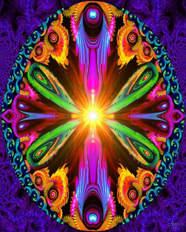 Psychedelic Abstract Art, Reiki Energy Healing