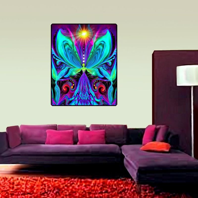 "Rainbow Angel Tapestry, Chakra Art, Reiki Wall Hanging - ""Vibrance"" - product images  of"