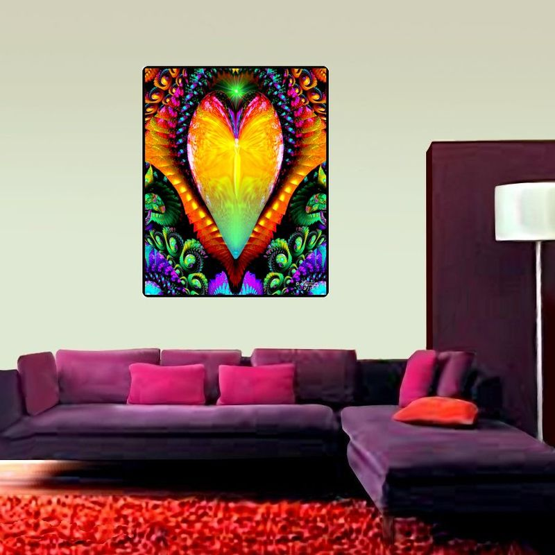 "Angel Tapestry, Rainbow Art, Reiki Wall Decor  - ""Universal Love"" - product images  of"
