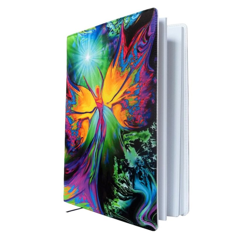 "Reiki Sketchbook, Chakra Angel Journal, Rainbow Notebook ""From Dark to Light"" - product images  of"
