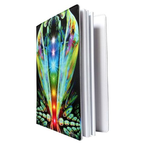 Chakra,Notebook,,Reiki,Journal,,Abstract,Art,Sketchbook,Emergence,sun and moon, abstract art, energy art, rainbow, rainbow love, mushroom book, fairy art, fairy journal, fairy notebook, fantasy art, twin flames, third eye, sixth chakra, angel, angels, folio, sketchbook, sketch book, notebook, journal, art journal, intui