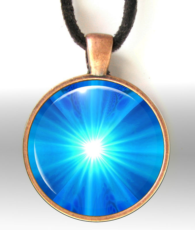 Blue Jewelry, Bright Sapphire Throat Chakra Necklace, Energy Healing - product images  of
