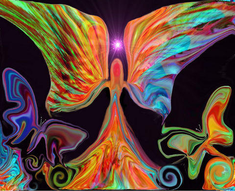 Butterfly,Angel,Print,,Reiki,Healing,Energy,Art,Angels,Love,Butterflies,primal painter, primalpainter, twin flames, twin souls, violet flame healing, violet flame, chakra art, reiki art, visionary art, rainbow art, angel art, digital art, psychedelic art, yoga room, meditation, spiritual art, wall decor, wall art, wall hangin