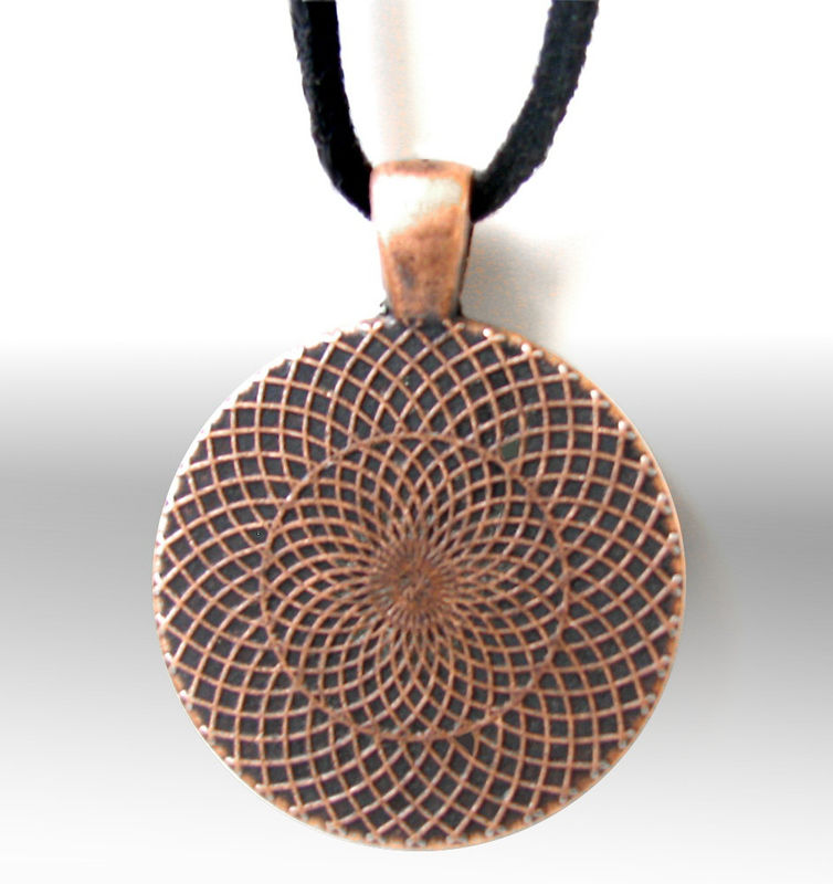 "Chakra Jewelry, Orange Swirl, Reiki Necklace Energy Art ""Metamorphosis"" - product images  of"