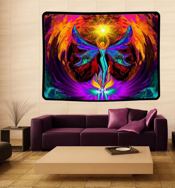 "Angel Tapestry, Chakra Art, Reiki Wall Hanging""Phoenix Rising"" - product images  of"