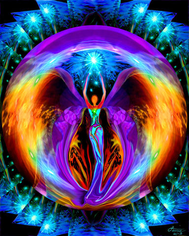 Rainbow,Angel,Art,,Chakra,Decor,,Reiki,Energy,Embrace,Light,primal painter, primalpainter, twin flames, twin souls, violet flame healing, violet flame, chakra art, reiki art, visionary art, rainbow art, angel art, digital art, psychedelic art, yoga room, meditation, spiritual art, wall decor, wall art, wall hangin
