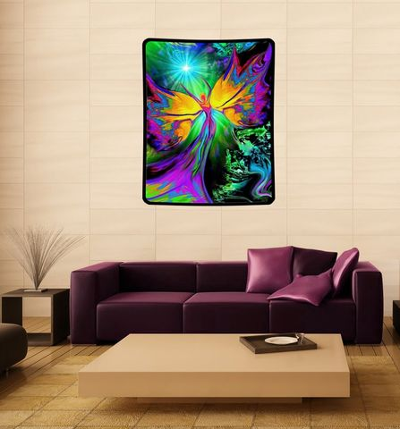 Reiki,Tapestry,,Energy,Healing,Chakra,Art,From,Dark,to,Light,heart decor, rainbow art, chakra art, chakra decor, chakra angel, chakra wall decoration, blanket, mushroom decor, baby blanket, curtain, art blanket, art tapestry, original art,  angel art, large art, tapestry, wall hanging, wall decoration, wall decor,