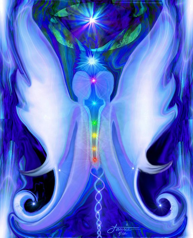 Twin Flames, Soulmates, Chakra Art, Reiki Angel Print