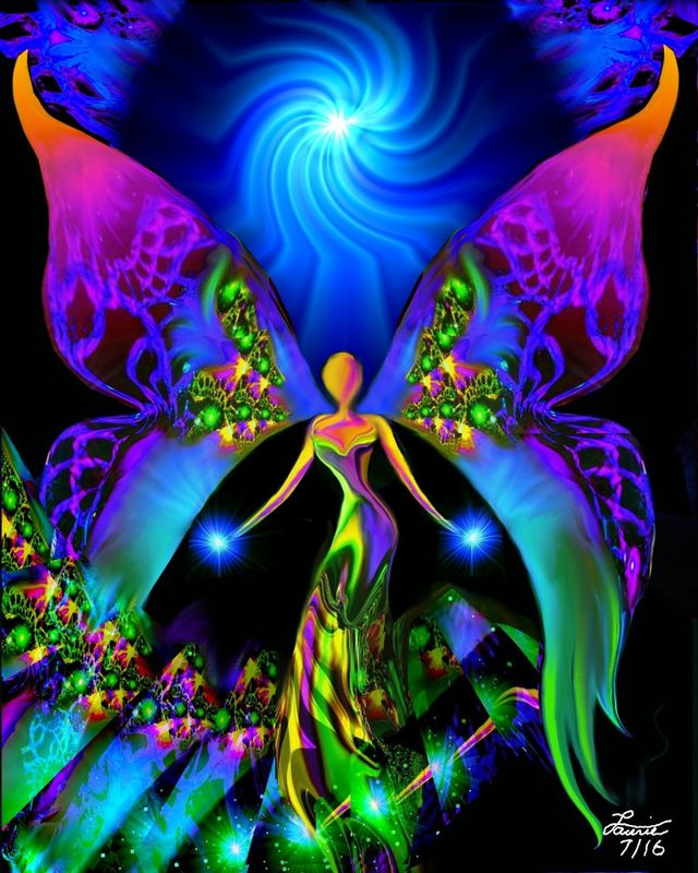 Visionary Angel Art, Reiki Attuned Wall Decor