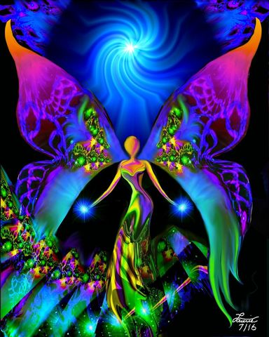 Visionary,Angel,Art,,Reiki,Attuned,Wall,Decor,Breaking,Free,primal painter, primalpainter, chakra art, reiki art, visionary art, rainbow art, angel art, digital art, psychedelic art, yoga room, meditation, spiritual art, wall decor, wall art, wall hanging