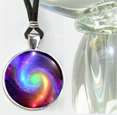 Chakra,Jewelry,,Rainbow,Pendant,,Reiki,Energy,Necklace,,Chakra,Swirl, metaphysical, rainbow, swirl, chakra, abstract, necklace, pendant, pendant necklace, reiki, healing, energy, spiritual, jewelry, meditation, chakras, angel, yoga, alternative healing, visionary, art