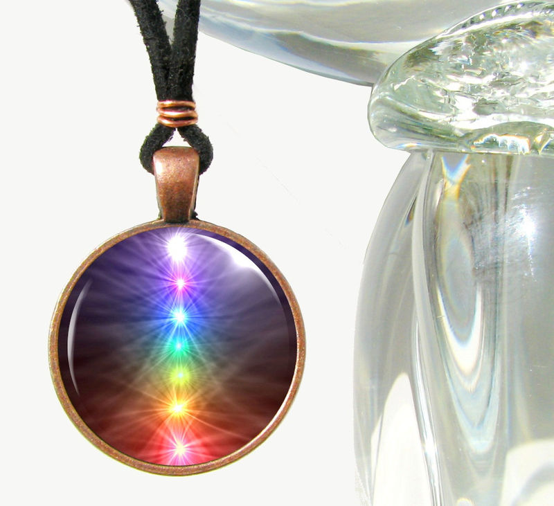 Chakra Art Jewelry, Reiki Healing Energy, Spiritual Pendant  - product images  of
