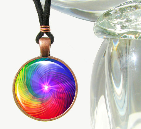 Rainbow,Chakra,Swirl,Necklace,,Spiritual,Energy,Art,,Reiki,Jewelry, art jewelry, red necklace, purple pendant, energy healing, reiki, chakras, pendant necklace, handmade, fantasy, healing, energy, spiritual, jewelry, hippie, boho, bohemian, festival, chic, new age, psychedelic, metaphysical, abstract, meditation, chakra