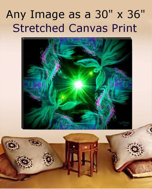 Large Stretched Canvas Alternative Healing Meditation Decor 30
