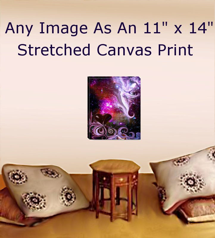 Stretched Canvas Print Reiki Wall Decor Meditation Room Energy Art 11 x 14 - product images