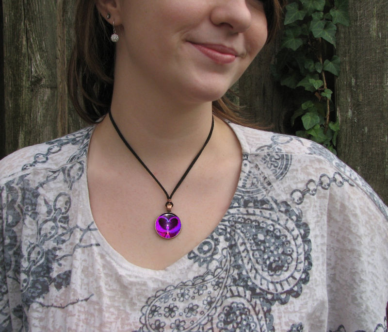 "Purple Black Jewelry, Angel Necklace, Reiki Healing, Handmade ""Angel Way"" - product images  of"