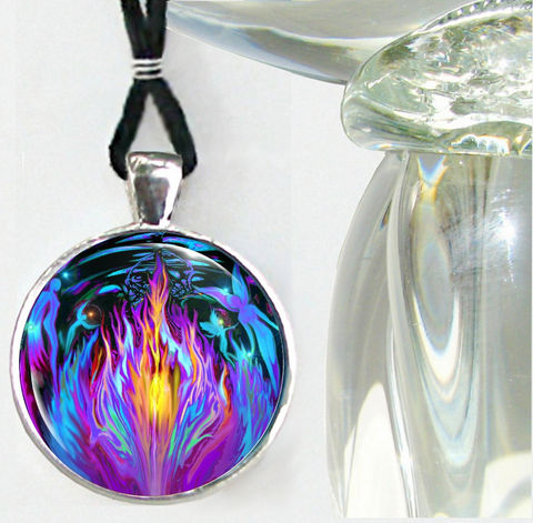 Violet,Flame,Necklace,,Psychedelic,Chakra,Jewelry,,Reiki,Healing,Transmutation,violet flame, fairies, fantasy, necklace, pendant, pendant necklace, reiki, healing, energy, spiritual, jewelry, chakras, hippie, boho, bohemian, festival, chic, new age, psychedelic, metaphysical, blue, purple, teal, abstract, meditation, angel