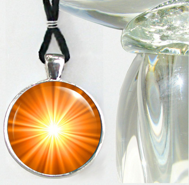 Orange Accessory, Second Chakra Necklace, Reiki Jewelry - product images  of