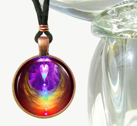 Rainbow,Jewelry,,Angel,Necklace,,Reiki,Energy,Pendant,Chakra,Heart, necklace, pendant, pendant necklace, reiki, healing, energy, spiritual, jewelry, chakras, hippie, boho, bohemian, festival, chic, new age, psychedelic, metaphysical, blue, purple, teal, abstract, meditation, angel, yoga, alternative healing, vis