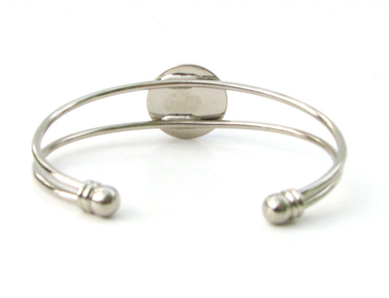 "Violet Bracelet, Crown Chakra Silver Cuff, Reiki Energy ""Intuition"" - product images  of"