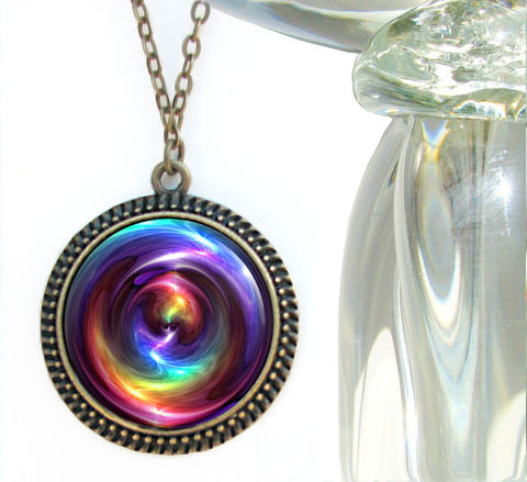 Rainbow,Swirl,Necklace,,Large,Chakra,Pendant,,Reiki,Jewelry,Chakra,Swirl,rainbow, swirl, necklace, pendant, pendant necklace, reiki, healing, energy, spiritual, jewelry, chakras, hippie, boho, bohemian, festival, chic, new age, psychedelic, metaphysical, blue, purple, teal, abstract, meditation, angel, yoga, alternati