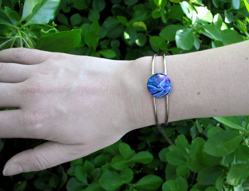 "Blue Bracelet, Angel Jewelry, Reiki Attuned ""The Healer"" - product images  of"