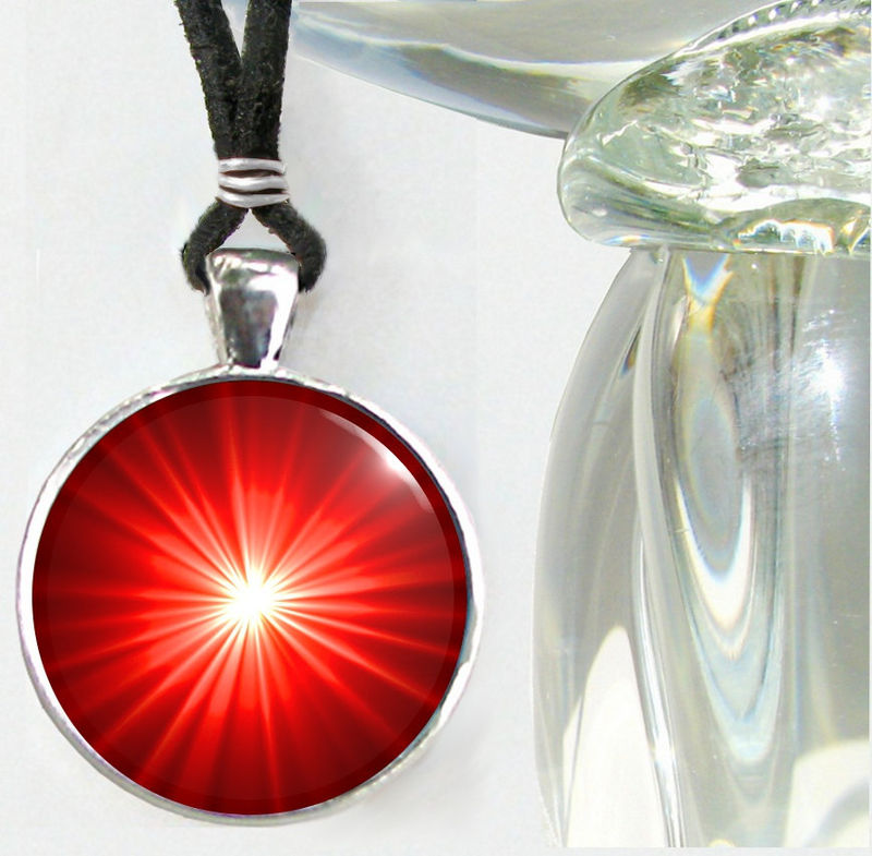 Red Chakra Necklace, Reiki Jewelry, Meditation Tool - product images  of