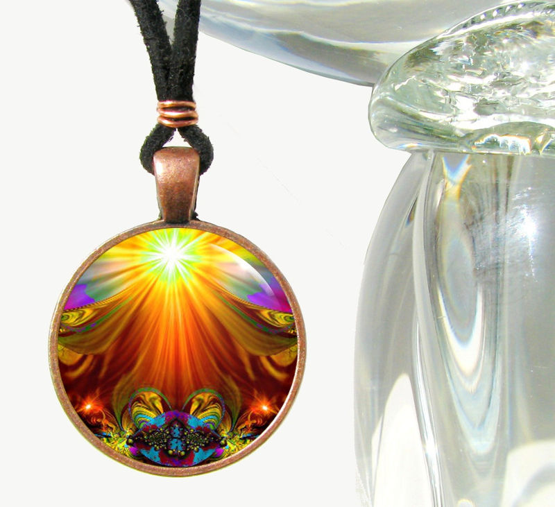 Chakra Art Jewelry Reiki Energy Healing Necklace Lightworker Pendant - product images  of