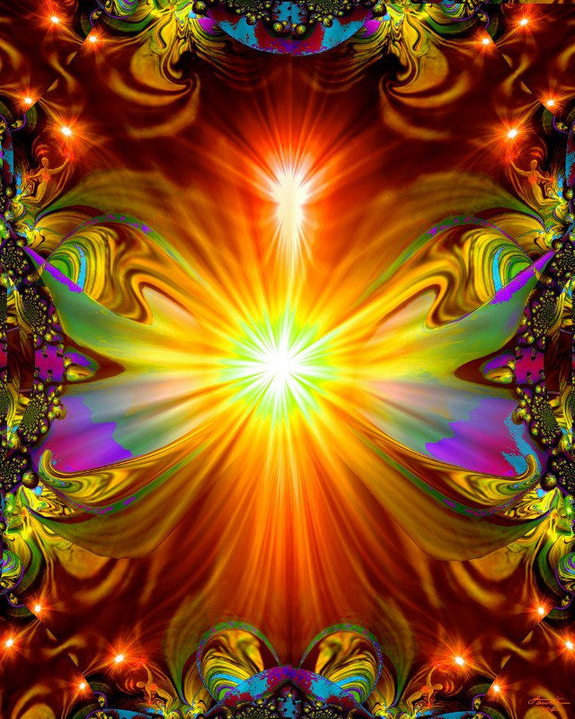 Abstract Angel Art, Psychedelic Wall Decor, Spiritual Energy