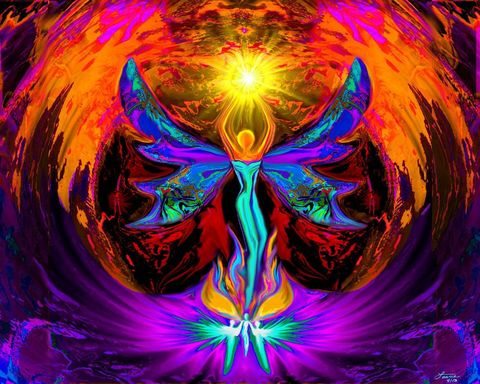 Rainbow,Reiki,Print,,Angel,Art,,Psychedelic,Wall,Decor,,Phoenix,Rising,primal painter, primalpainter, twin flames, twin souls, violet flame healing, violet flame, chakra art, reiki art, visionary art, rainbow art, angel art, digital art, psychedelic art, yoga room, meditation, spiritual art, wall decor, wall art, wall hangin