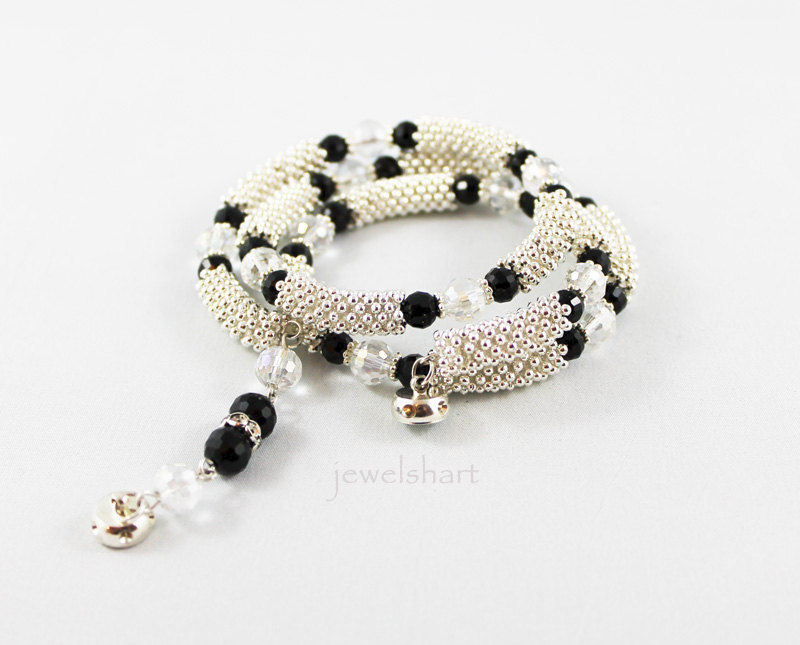 Triple Strand Wrap Snake Like Bangle Bracelet  - product images  of