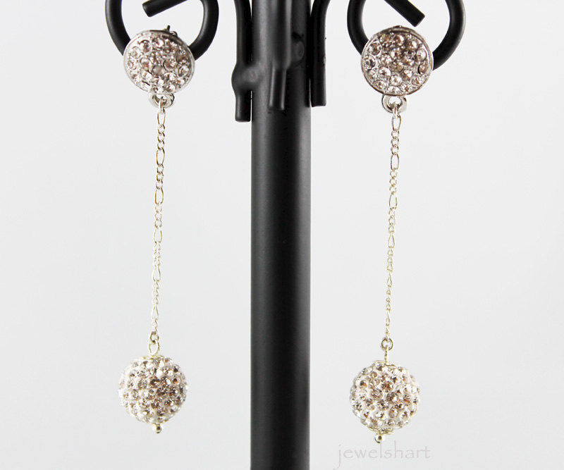 Crystal Post Rhinestone Bridal Earrings - product images  of