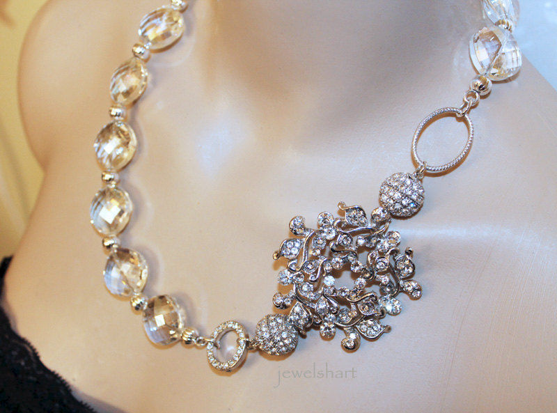 Crystal Bridal Statement Necklace  - product images  of