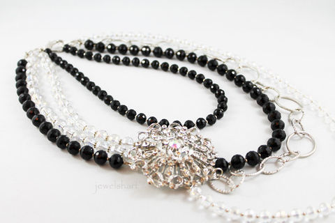 Elegant,Crystal,Statement,Necklace,Jewelry,Beaded,statement_necklace,bold_statement,bold_necklace,big_necklace,party_jewelry,statement_jewelry,silver_statement,statement_piece,elegant_necklace,elegant_statement,bold_multi_strand,multi_strand_jewelry,jewelry,crystal beads,rhineston