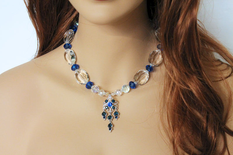 Big Bold Crystal Statement Necklace - product images  of