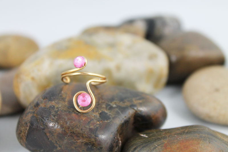 Adjustable Pinky Ring TRG107 - product images  of