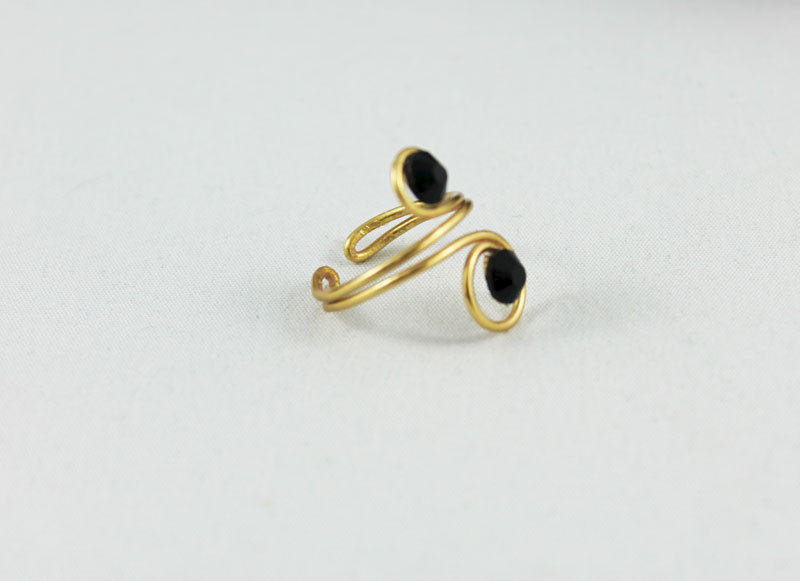 Adjustable Gold Spiral Knuckle Ring TRG103 - product images  of