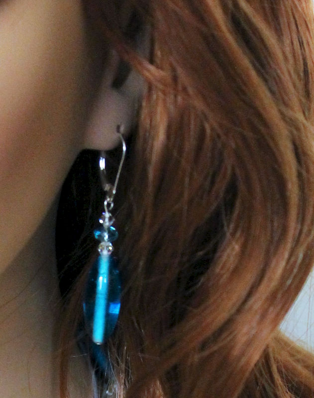 Casual Blue Dangle Earrings - product images  of
