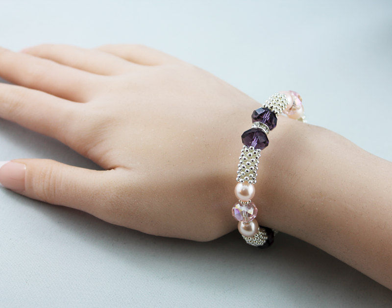 Pearl Beaded Bangle Bracelet - product images  of