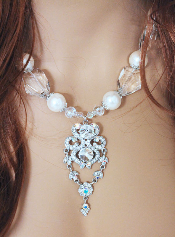 Chunky Bridal Statement Necklace - product images  of