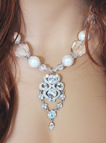 Chunky,Bridal,Statement,Necklace,Jewelry,Choker,statement_necklace,statement_piece,beaded_necklace,chunky_necklace,bridal_necklace,bridal_choker,bridal_statement,wedding_jewelry,statement_bridal,wedding_necklace,wedding_jewellery,rhinestone_necklace,gift_for_her,mother of pearl
