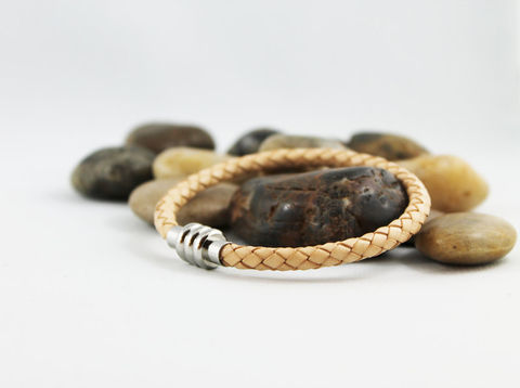 Natural,Tan,Braided,Leather,Bracelet,Jewelry,stainless_steel,natural_tan,mens_bracelet,mens_leather,mens_jewelry,bolo_leather,braided_leather,leather_bracelet,steel_clasp,magnetic_clasp,tan_leather_bracelet,stainless_jewelry,casual_bracelet,braided leather,stainless steel magnetic c