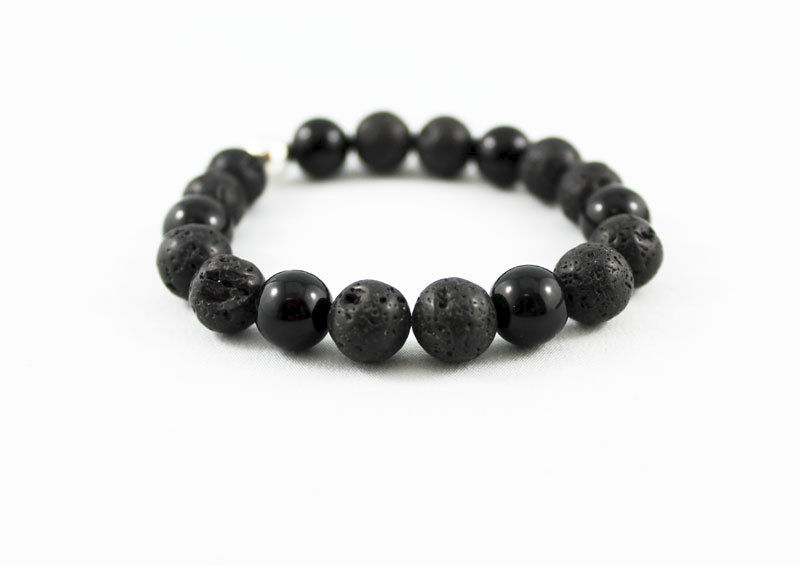 Black Lava Unisex Stack Bracelet - product images  of