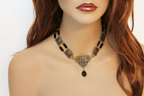 Elegant,Edwardian,Choker,Necklace,Jewelry,brass_choker,choker_necklace,victorian_choker,victorian_necklace,edwardian_choker,edwardian_necklace,victorian_jewelry,edwardian_jewelry,black_onyx_choker,oxidized_brass,statement_jewelry,elegant_necklace,elegant_choker,oxidized br